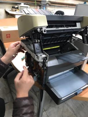 HP LASERJET 3015 更換加熱器