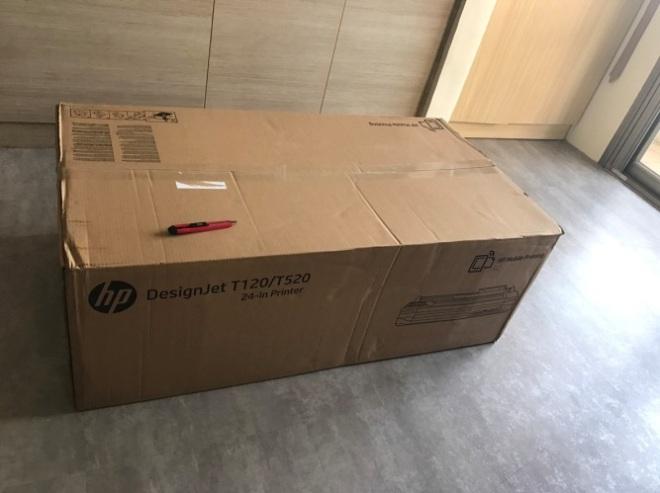 HP T120 繪圖機安裝